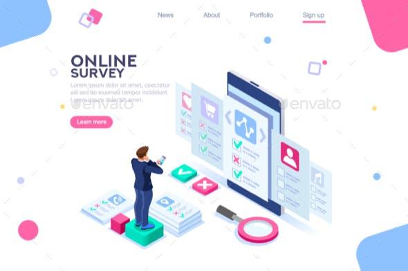 online survey template by aurielaki graphicriver
