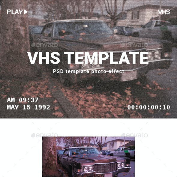 vhs graphics designs templates from graphicriver