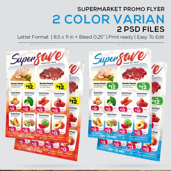 supermarket flyer graphics designs templates
