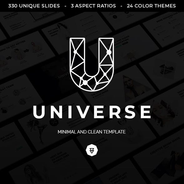 universe minimal and clean powerpoint template by ocvembor