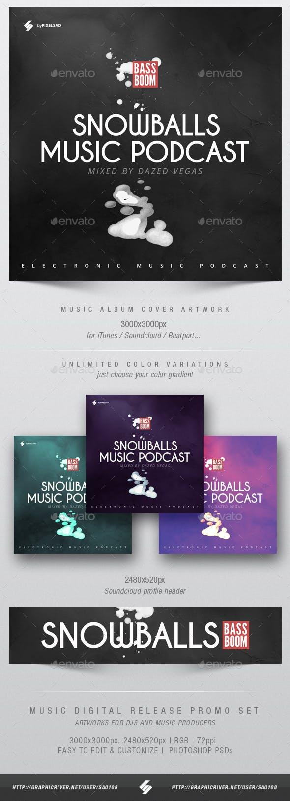 snowballs music album cover artwork template by sao108 graphicriver