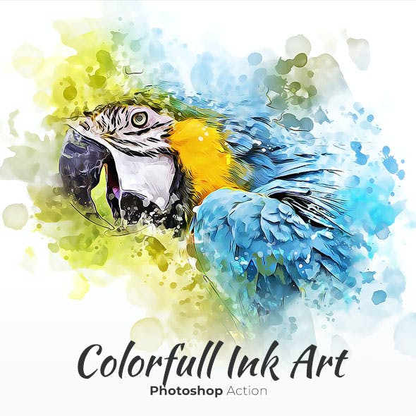 Colorfull Ink Art Photoshop Action