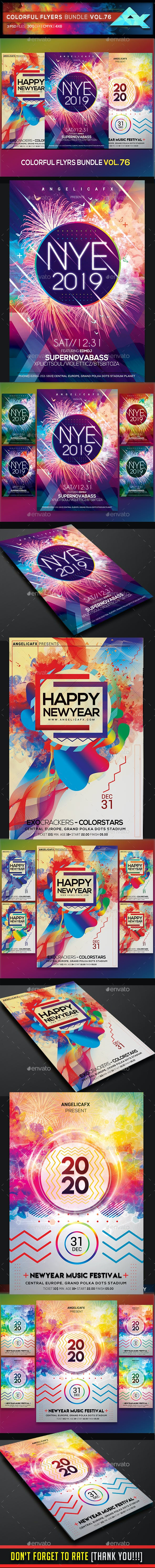 colorful flyers bundle vol 76 by angelicafx graphicriver