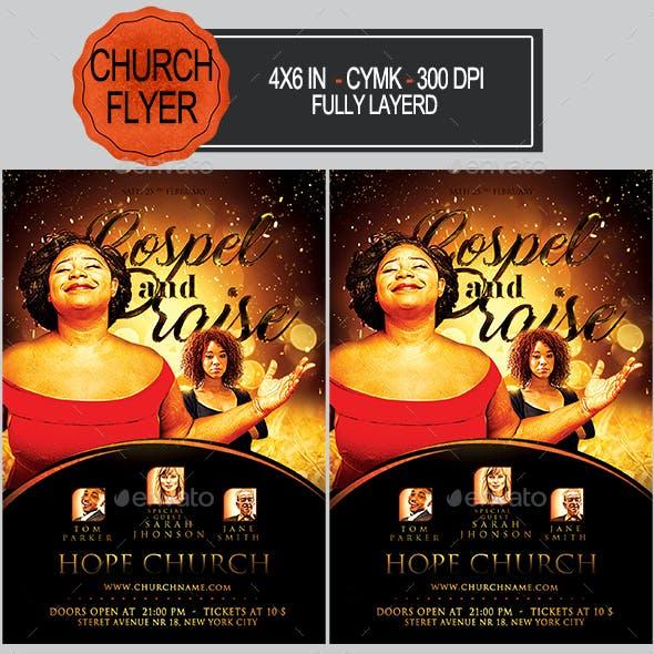 gospel and praise church flyer