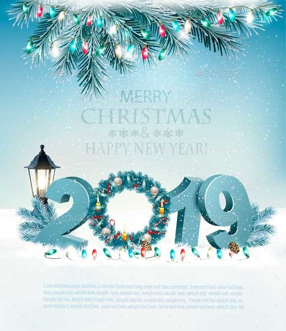 happy new year 2019 background new year seasonsholidays