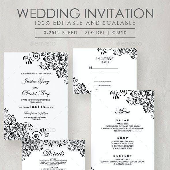 wedding program graphics designs templates from graphicriver