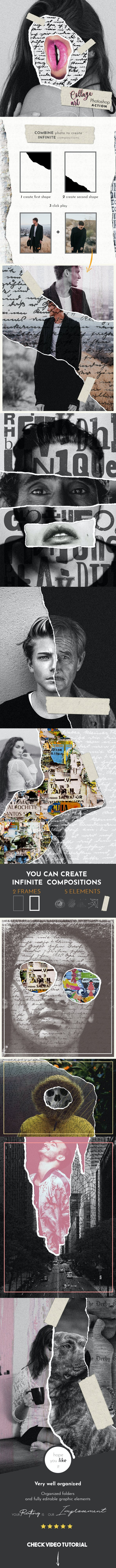 Скачать [Graphicriver] Collage Art Photoshop Action (2018), Отзывы Складчик » Архив Складчин