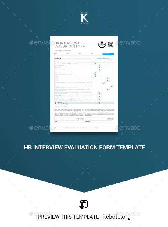 hr interview evaluation form template miscellaneous print templates