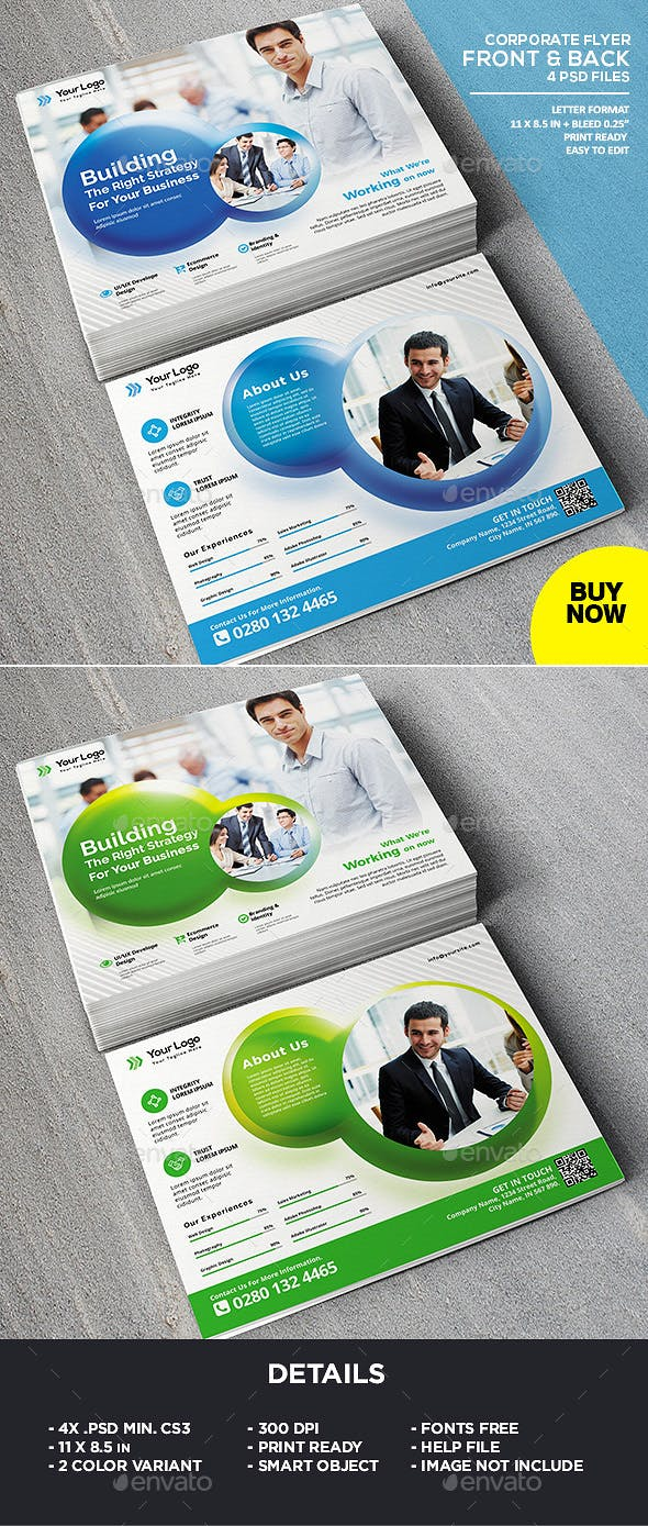 landscape corporate business flyer template by ivanjoys19 graphicriver