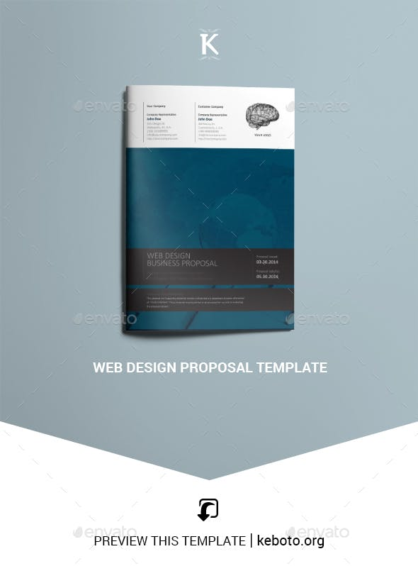 Web Design Proposal Template By Keboto Graphicriver