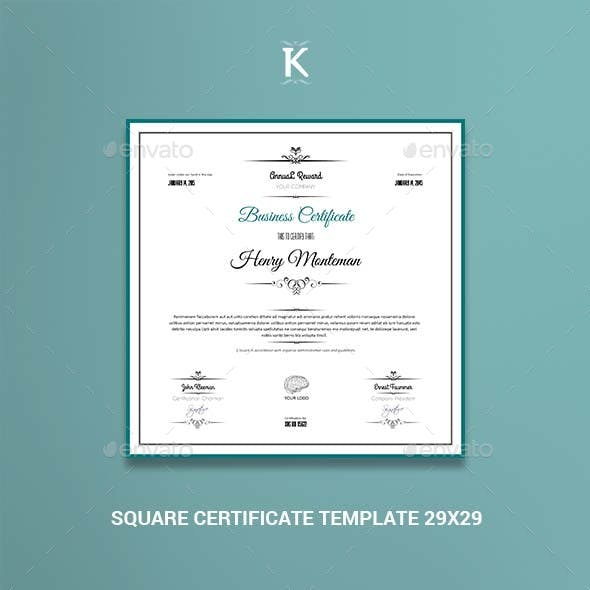 Indesign Certificate Random Print Template From Graphicriver