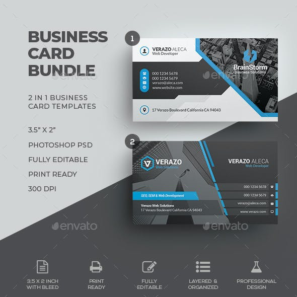 business card bundle 64