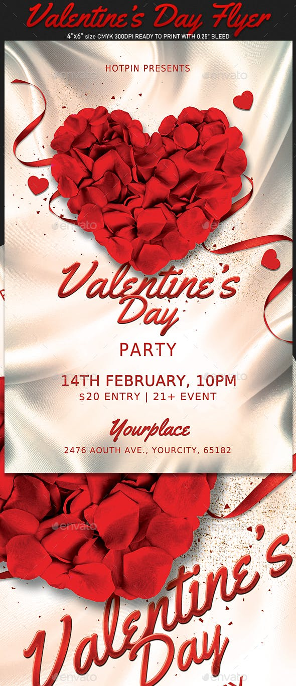 Classy Valentines Day Flyer By Hotpin Graphicriver