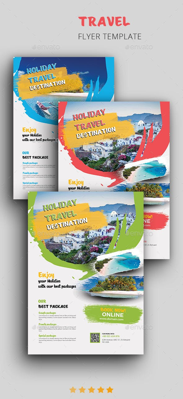 Travel Flyer Template By Bigart Graphicriver