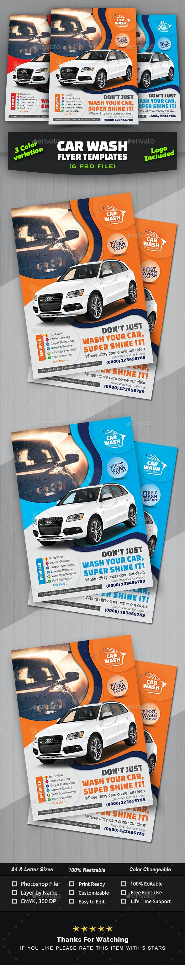 car wash flyer template commerce flyers
