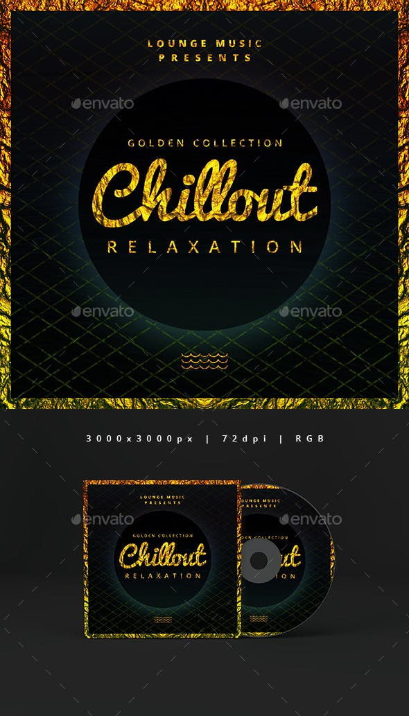 Golden Chillout Music Cover Album Template By Djjeep Graphicriver
