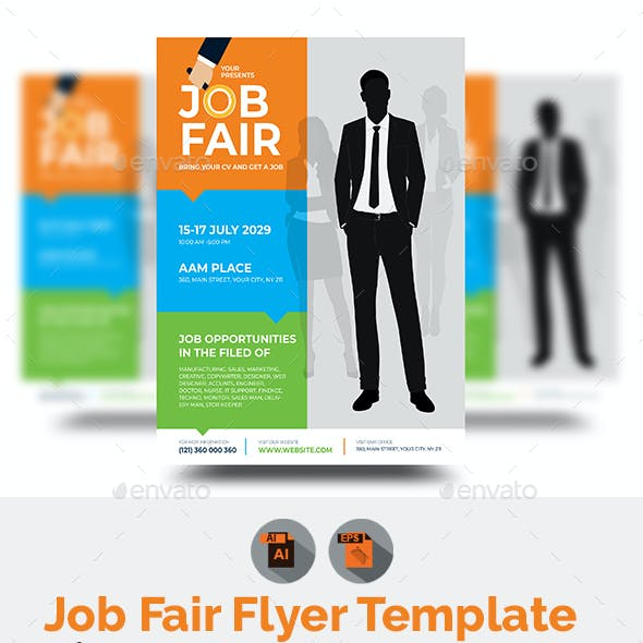 Job Fair Flyer Graphics Designs Templates From Graphicriver