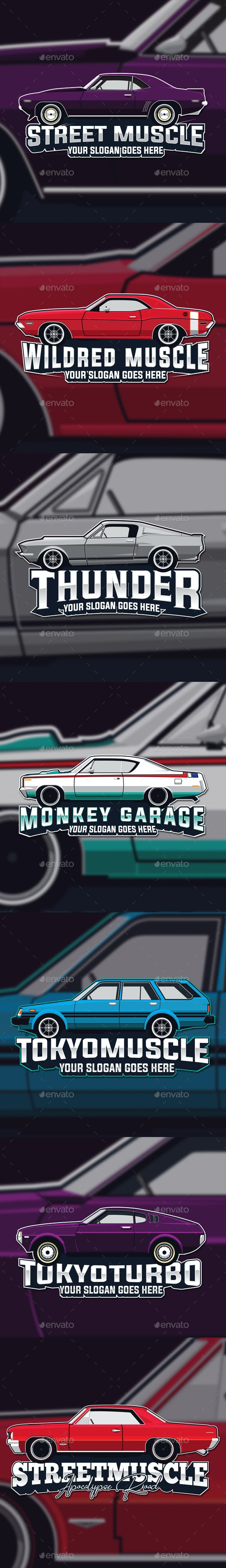 Muscle Car Logo Template By The Sastra Graphicriver