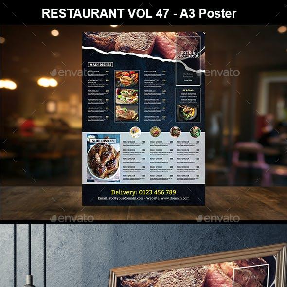 2019 a3 wall menu vol 01