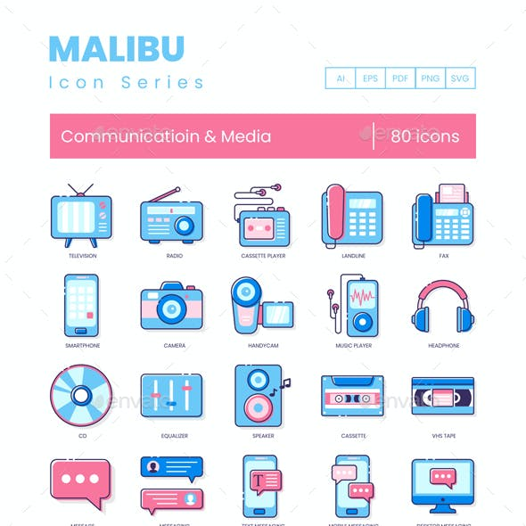 431c0a04b02 Communication Icons - Malibu Series