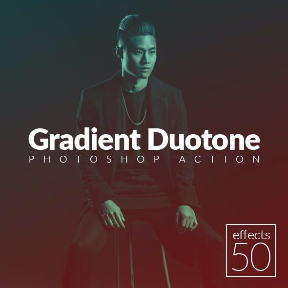 50 Gradient Duotone Effects Photoshop Action