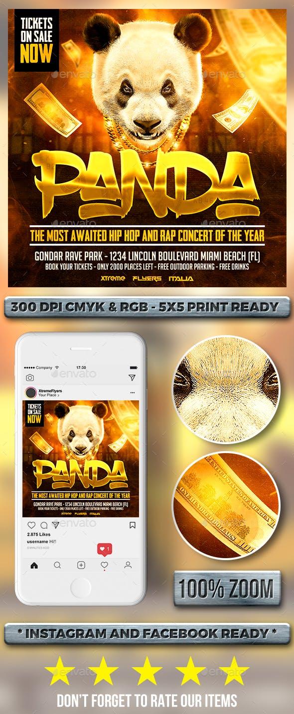 Panda Hip Hop Flyer