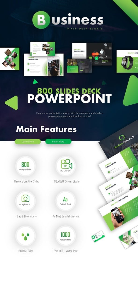 Business Pitch Deck Powerpoint Bundle By Luckydesign Graphicriver