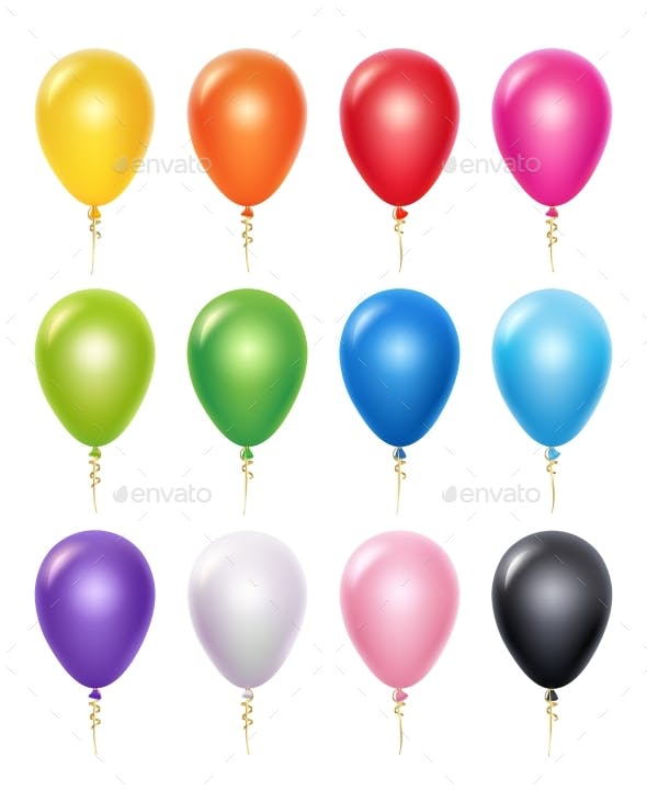 colored balloons by onyxprj graphicriver