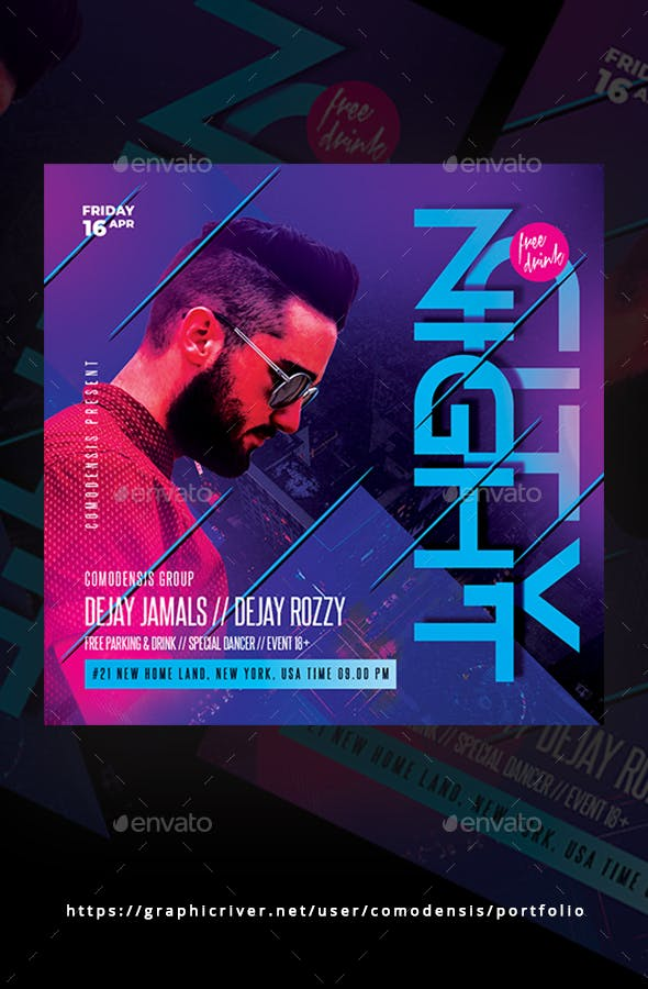 Dj Club Party Flyer Templates By Comodensis Graphicriver