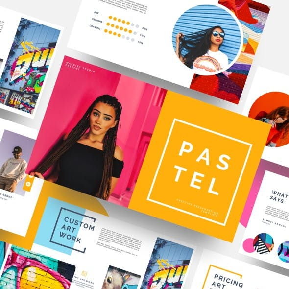 Pastel - Pop Art & Graffiti Powerpoint Template