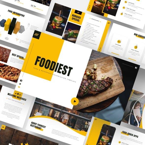 Foodiest - Food &  Beverages Powerpoint Template