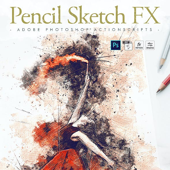 Animated Pencil Sketch FX - Photoshop Add-On by Giallo   GraphicRiver
