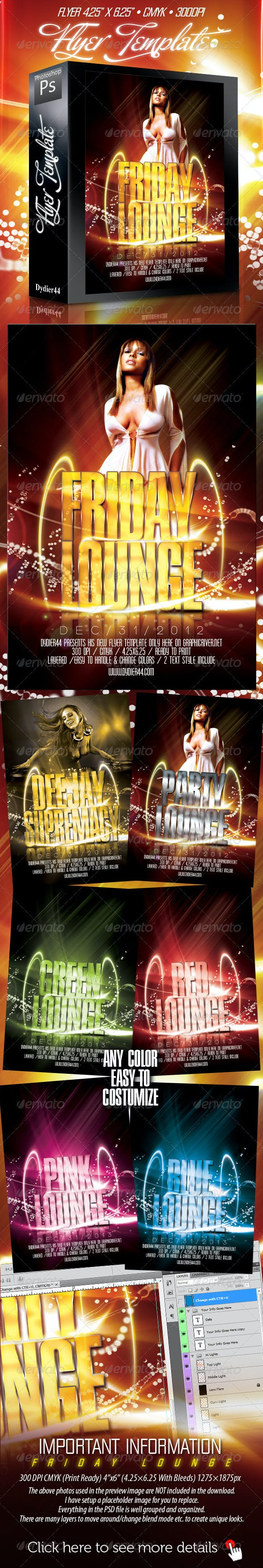 friday lounge flyer template 4x6 by dydier44 graphicriver