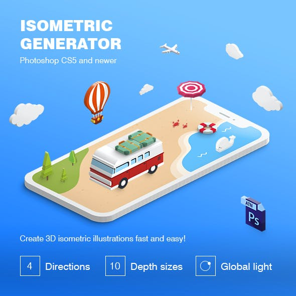 Isometric Illustration - 3D Generator by Sko4 | GraphicRiver