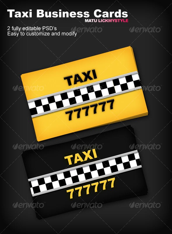 Taxi Business Cards By Matu Graphicriver
