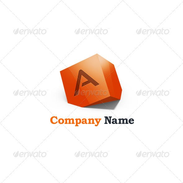 Letter A 3D Abstract Logo