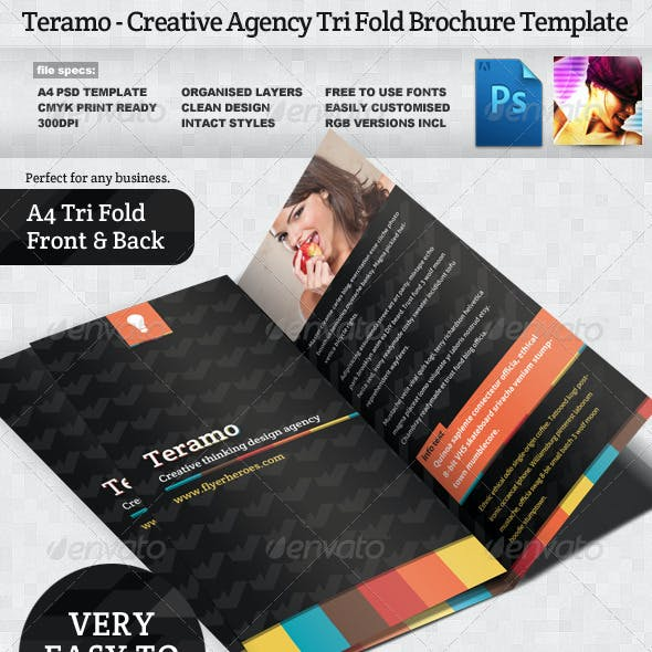consultant creative and psd informational brochure template