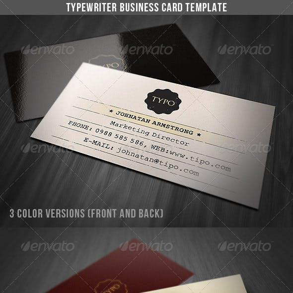 Typewriter retro graphics designs templates reheart Choice Image