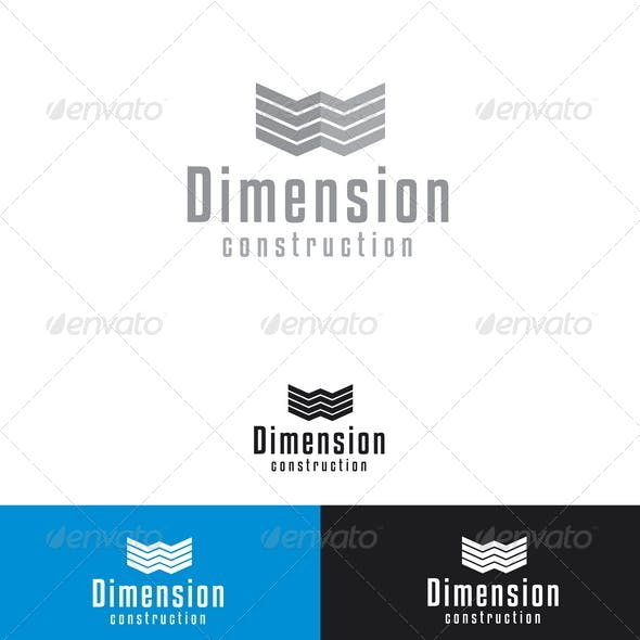 dimension construction logo template by mia3d graphicriver