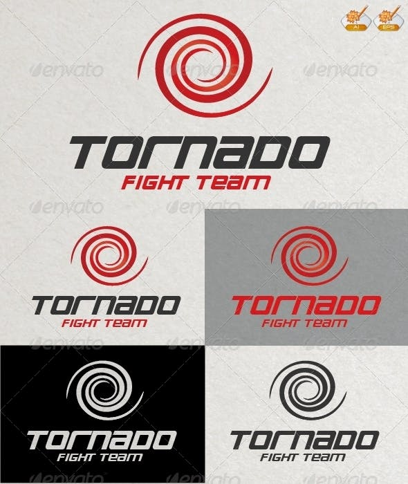 tornado fight team logo template by graphicdiesel graphicriver