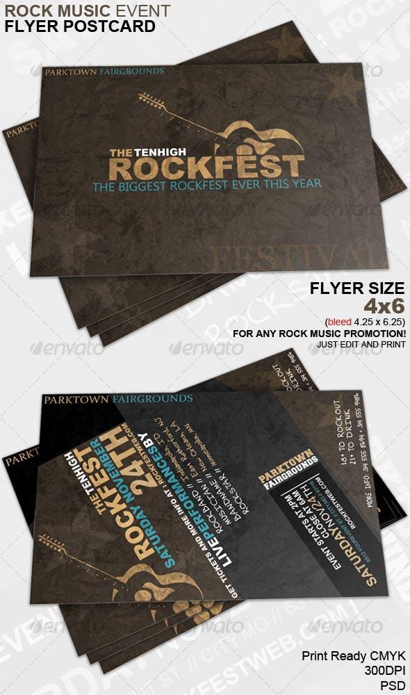 rock music event flyer postcard by jmzolman graphicriver