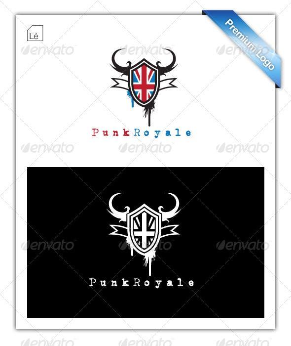 Punk Crest Flag Royal Logo By LogoElite