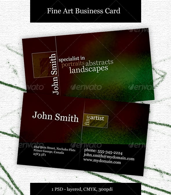 Fine Artist Business Card By Thornyrabbit Graphicriver