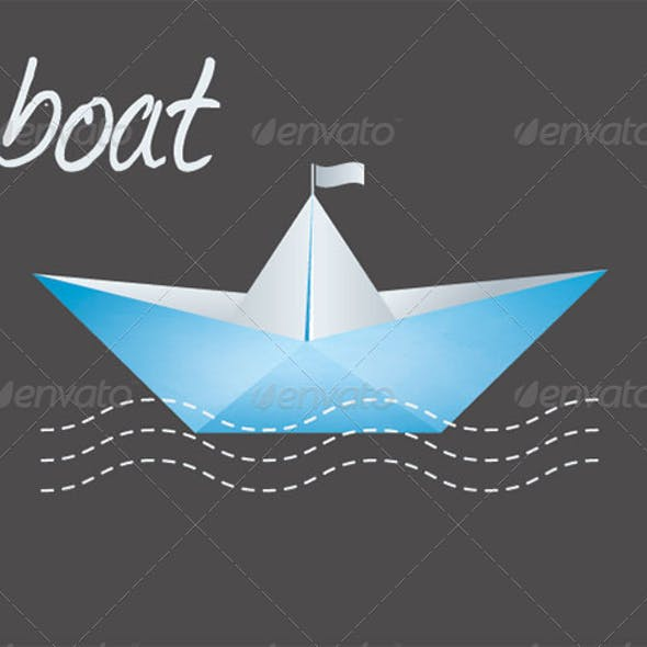 Paper Boat Graphic Graphics Designs Template