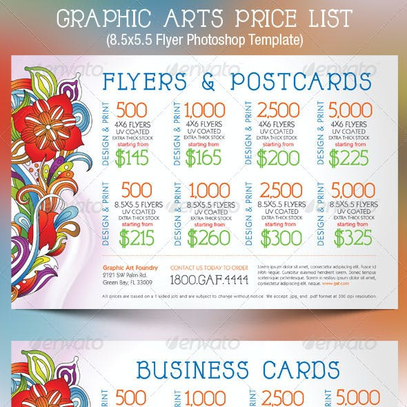 price list flyer graphics designs templates from graphicriver
