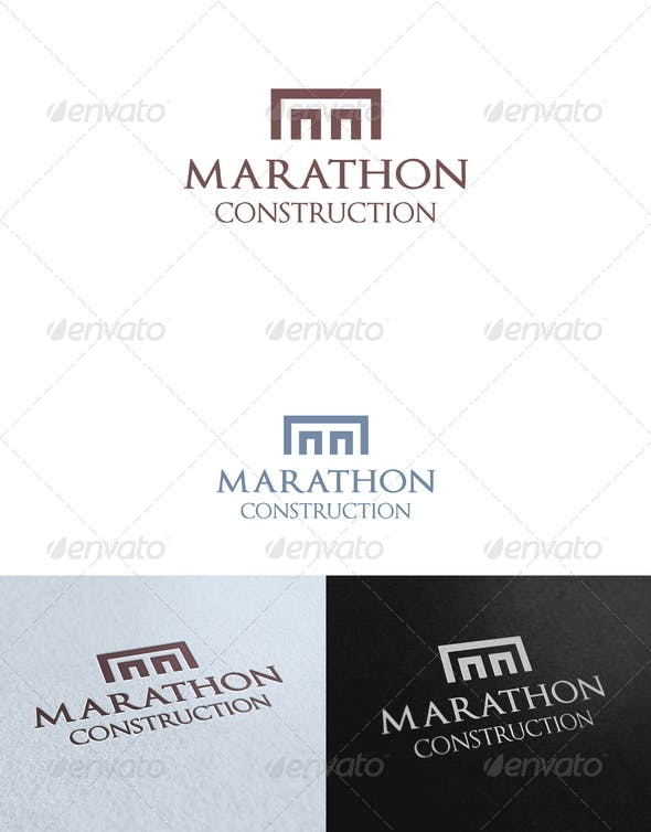 marathon construction logo template by mia3d graphicriver