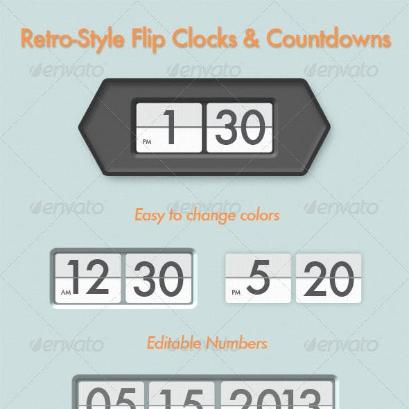 Countdown Minute Graphics, Designs & Templates