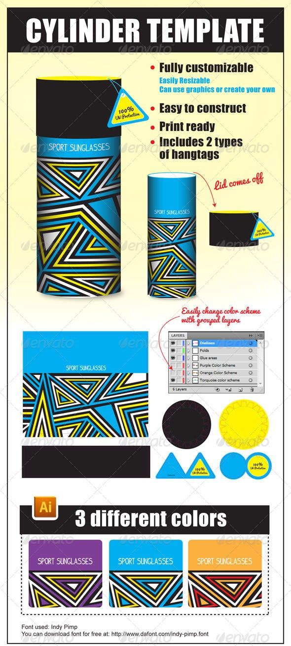 cylinder package template by mekealoha graphicriver