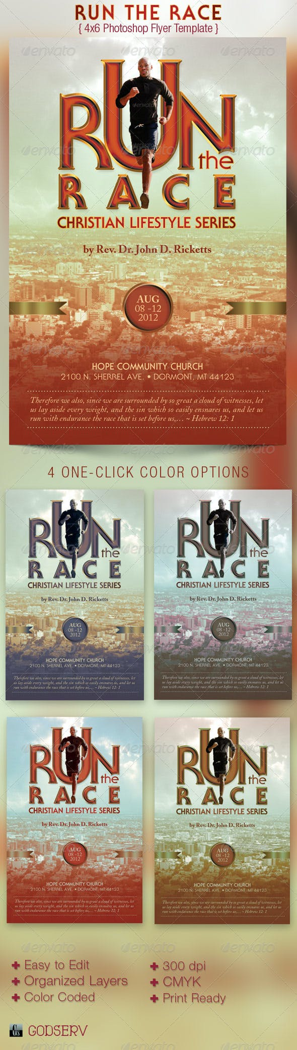 run race church flyer template by godserv graphicriver