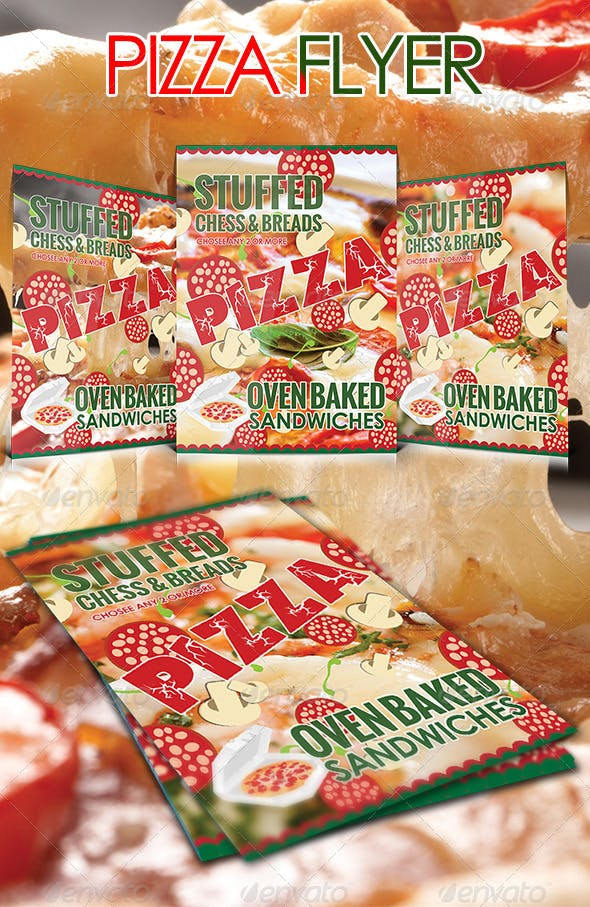 pizza flyer template by pixelands graphicriver